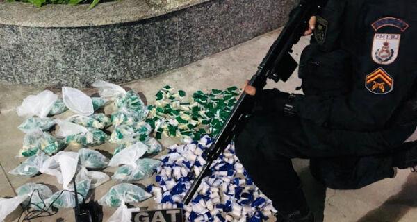 Homem é detido com 1220 pedras de crack e cocaína mais de 600 cápsulas de cocaína