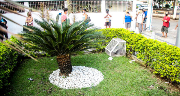 Servidores do Turismo ajudam a organizar filas em bancos de São Pedro da Aldeia