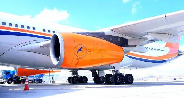 Avião da companhia aérea do Afeganistão pousa no aeroporto de Cabo Frio com equipamentos médicos da China