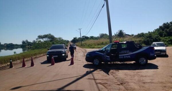 Prefeitura de Araruama monta bloqueios para evitar movimentação nas praias