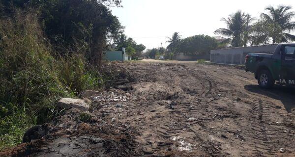 Polícia ambiental constata aterramento de rio em Araruama após denúncia