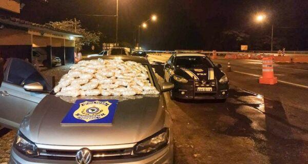 Polícia Rodoviária Federal apreende R$ 160 mil em drogas durante blitz na BR-101