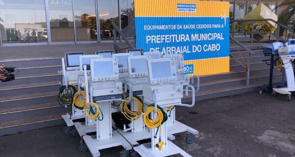Arraial do Cabo recebe dez respiradores da Prefeitura do Rio
