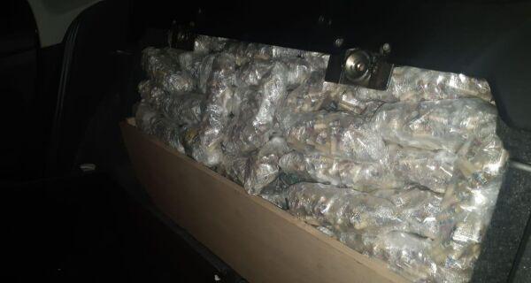 Operação conjunta apreende mais de 12 mil pinos de cocaína e 900 buchas de maconha na RJ-124