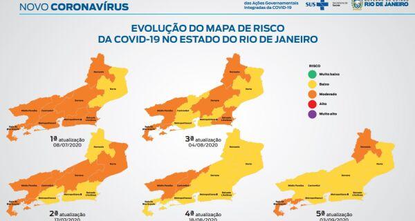 Governo do estado aponta que 96% da população do Rio está sob baixo risco de Covid-19