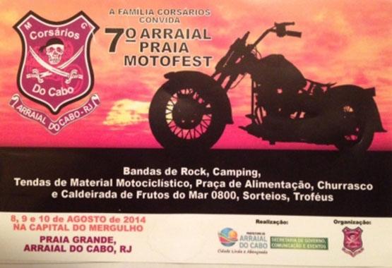 Arraial do Cabo realizará em agosto sétima edição do Praia Moto Fest