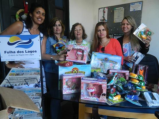 Natal da Folha dos Lagos começa com doações