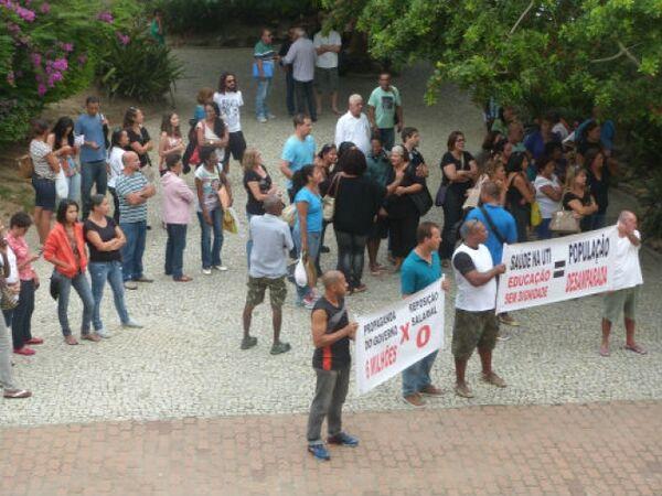 Servidores cruzam os braços na Prefeitura de Cabo Frio