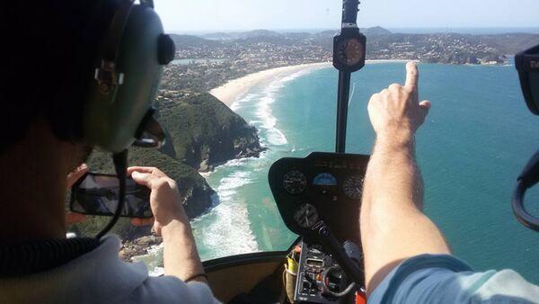 Inea passa a usar helicóptero para vistoriar Parque Estadual da Costa do Sol