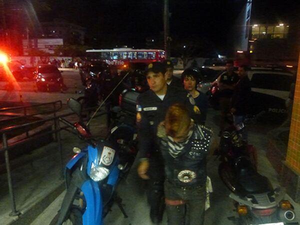Sete são detidos após protestos na Praça Porto Rocha