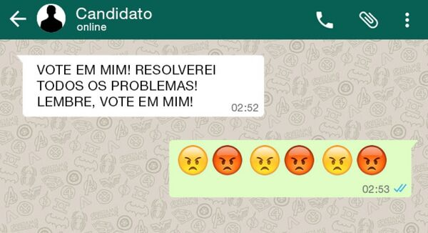 Candidatos investem no WhatsApp nestas eleições