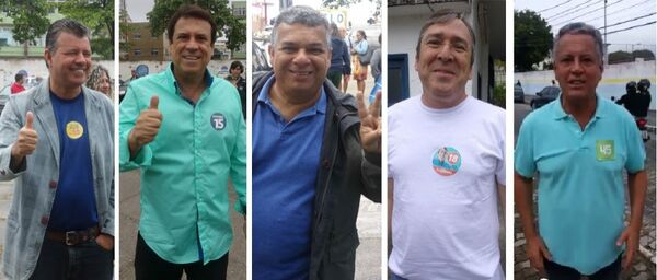 Candidatos esbanjam otimismo durante votação