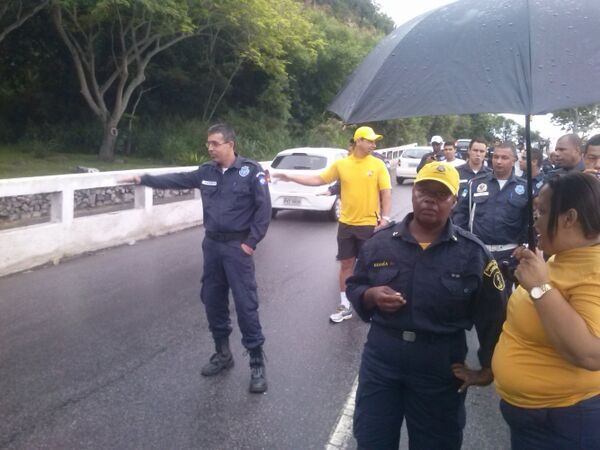 Repetindo a dose: Guarda protesta na Ponte Feliciano Sodré