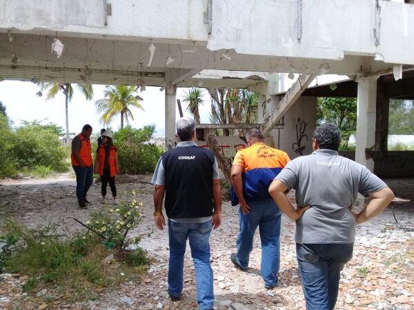 Prefeitura realiza última vistoria nas ruínas do Hotel Acapulco