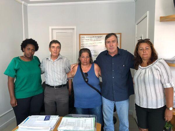 Prefeito Adriano recebe representantes do Sindicato da Educação na manhã desta quinta (16)